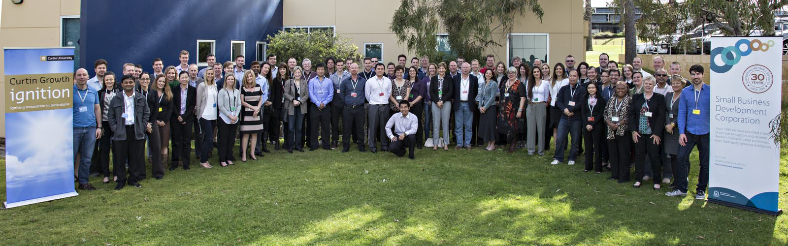 Participants and team at Curtin Ignition 2014.