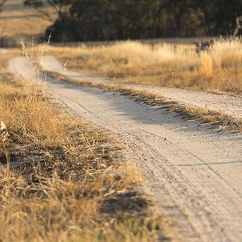 Photos of driveways, laneways, paddocks, creeks, lakes, scenery.