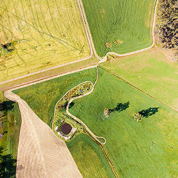 Your farm photographed from the air by drone. Photos of the homestead, yards, significant landmarks.